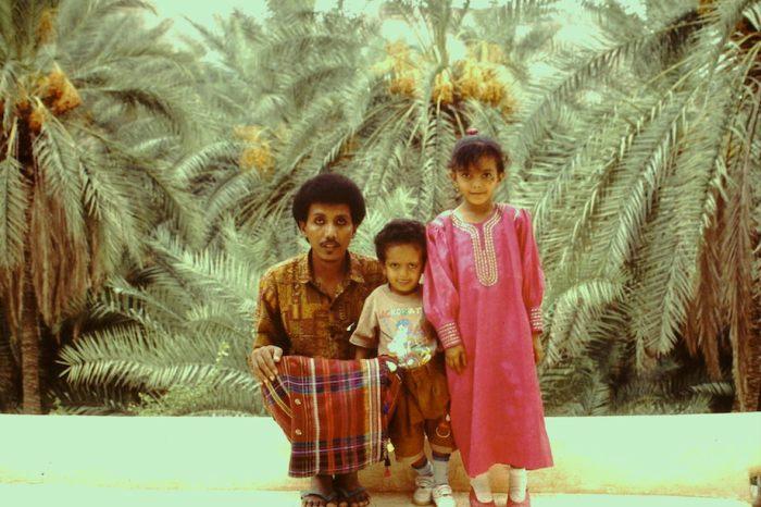 Vader met dochter en zoon.