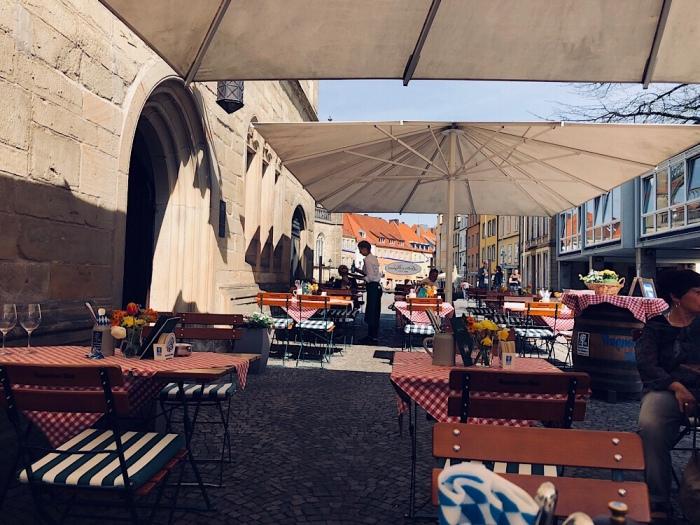 Die Terrasse von Lutter & Wegner, Ratskeller, Markt 30