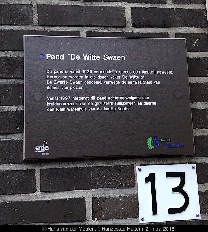 Kruisstraat 13: De Witte Swaen