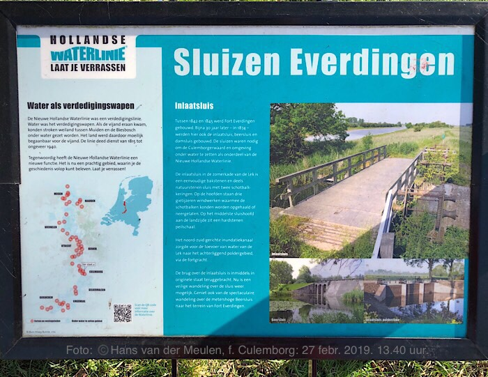 Fort Everdingen Inlaatsluis